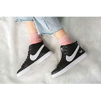 NIKE BLAZER Trending Men Stylish High Top Sport Shoes Sneakers Black