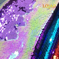 2018 Newest Sequin Fabric By The Yard Rose Gold Reversible Mermaid Sequin Fabric Flip Up Fabric for Dresses/Cushion Cover Decor