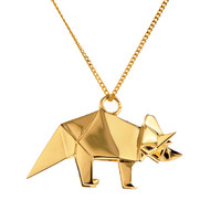 Collier Tricératops - Origami Jewellery