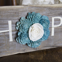 """Reclaimed Pallet Wood Sign - HOPE 18""""X7"""""""