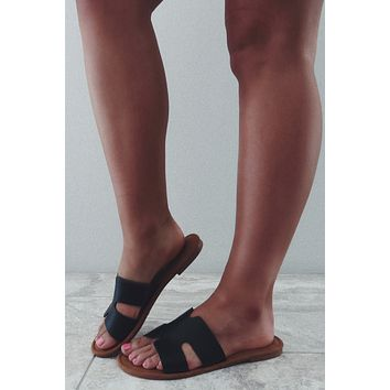Summer Chic Sandals: Black