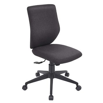 Bowthy Armless Office Chair Ergonomic Computer Task Desk Chair Without Arms Mid Back Fabric Swivel Chair (Black) Black