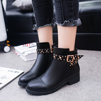 On Sale Hot Deal Autumn Round-toe With Heel Boots [8865348748]