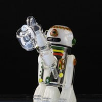 """Empire Glassworks """"Rasta Bot"""" Concentrate Rig with Rasta Color Working"""