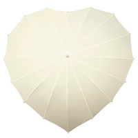 Heart Umbrella (Ivory) : Umbrella - The Buggy Brolly for Strollers, Buggies and Prams, umbrellas to keep Mum and Dad dry