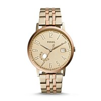 Vintage Muse Date Watch, Gold | FOSSIL