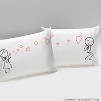 From My Heart to Yours Too™ Couple Pillowcases, His and Hers Couple Gifts, Husband Gift, Boyfriend Gift, Valentines Day Gifts for Him, Boyfriend and Girlfriend Gift, Husband and Wife Gift, Couples Gift