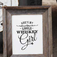 Whiskey Girl Print