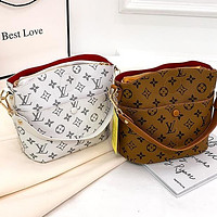 Lv Louis Vuitton New Ladies Printed Letters Shopping Shoulder Bag Messenger Bag