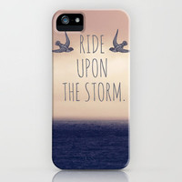 Ride Upon The Storm iPhone Case by Sabine Doberer | Society6