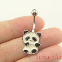 belly ring,belly button rings,panda belly button rings,navel ring,piercing belly ring,body piercing bellyring