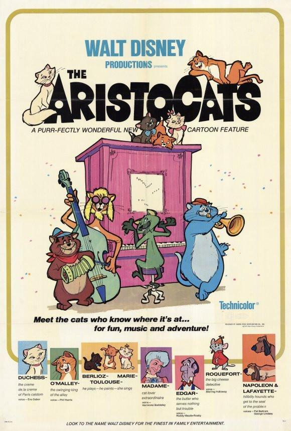 Image of The Aristocats 27x40 Movie Poster (1971)