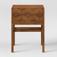 Tachuri Geometric Front Accent Table Brown - Opalhouse™