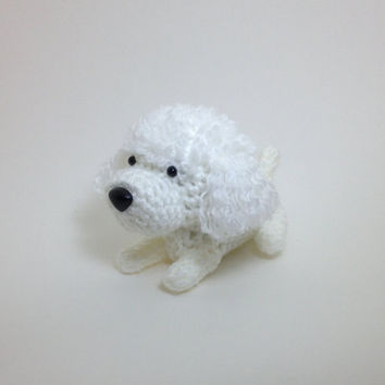 Poodle Crochet Dog Amigurumi Puppy Stuffed Animal Plush Doggie Doll / Made to Order