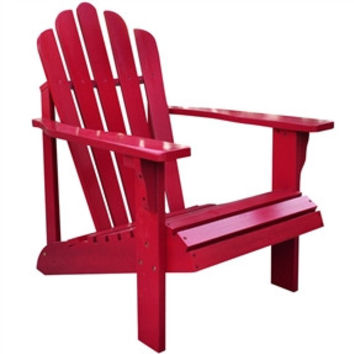 Outdoor Patio Deck Adirondack Chair in Red Chili Finish