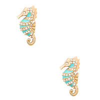 paradise found seahorse studs