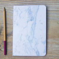 Printed Notebook Marble Sketchbook Thread bound Journal Handmade Dot Grid Option