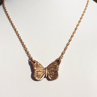 OOAK Copper Pendant - 3D Butterfly - Transformation Playfulness and Joy - Ready To Ship