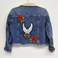 Harley Davidson Cropped Denim Jacket