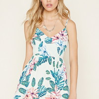 Tropical Floral Mini Dress