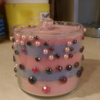 100% soy mulberry / plumeria scented candle