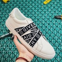 Givenchy 4g Black Webbing Sneakers In White Leather DCCK