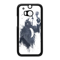 Wolf Song 3 Black Hard Plastic Case for HTC One M8 by Balazs Solti