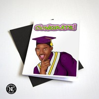 Fresh Graduation Card 90's TV - Congratulations Oldschool Card! - A6 Graduation Card