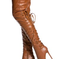Camel Faux Leather Thigh High Pointy Boots @ Cicihot Heel Shoes online store sales:Stiletto Heel Shoes,High Heel Pumps,Womens High Heel Shoes,Prom Shoes,Summer Shoes,Spring Shoes,Spool Heel,Womens Dress Shoes