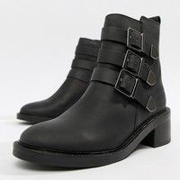 Superdry Buckle Detail Ankle Boot at asos.com