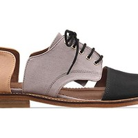 Minimarket Flat Lace Up Cut Out in Salmon Gris at Solestruck.com