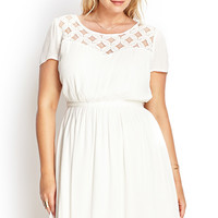 Lace-Up Crochet Lace Dress