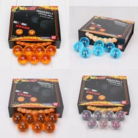 4cm Dragon Ball Crystal Balls Dragon Ball Z Action Figures Balls Complete set 7 Stars figurines Toy Great Gifts