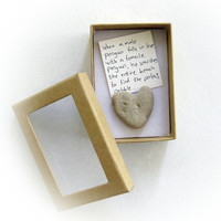 Unique Love Card - a heart shaped rock in a box