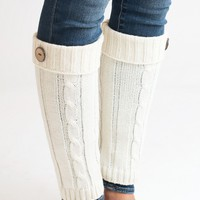 Buttoned Ivory Boot Cuffs