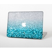 The Turquoise & Silver Glimmer Fade Skin Set for the Apple MacBook Air 13""