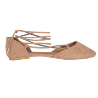 Claire Lace-Up Ballet Flats