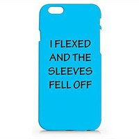 Amazon.com: I Flexed And The Sleeves Fell Off Quotes Iphone 6 Case, White Plasted Printed Cover For Iphone 6 Case -Emerishop: Cell Phones & Accessories