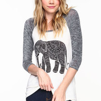 Tribal Elephant Baseball Tee - LoveCulture