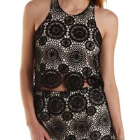 High-Low Crochet Crop Top by Charlotte Russe