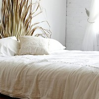 FP One Womens White Pintuck Quilt