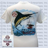 SALE Texas A&M Aggies Deep Pride Loyalty Runs Deep Fish Unisex Bright T Shirt