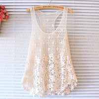 Hollow Bandage Lace Sexy Spagehetti Strap Sexy Bikini Swim Suit Beach Bathing Suits Top  Women Tank Vest_ 295