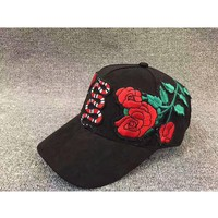 Gucci Snakes and roses cap