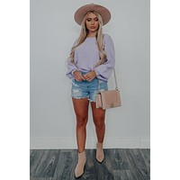 Let Me Be Sweater: Lavender