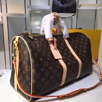 Louis Vuitton Lv Monogram Canvas Keepall 50 Shoulder Bag Travel Bag #13431 - Best Deal Online