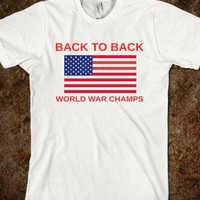 Undisputed Back To Back World War Champions