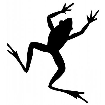 Black Frog Waterproof Temporary Tattoos Lasts 3 to 4 days Choose Small, Medium or Large Sizes
