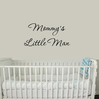 Mommy's Little Man Nursery Wall Decals Cute Baby Quote Vinyl Nursery Wall Qut...