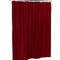 Park Avenue Deluxe Collection Park Avenue Deluxe Collection  inch Lauren inch  Dobby Fabric Shower Curtain in Burgundy